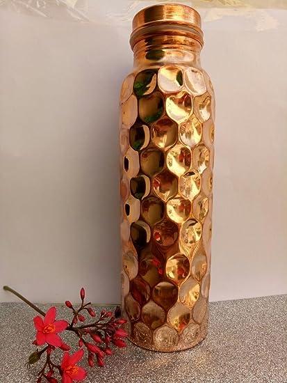 Set of 8 - Diamond Cut Design Pure Copper Joint Free & Leak Proof ...