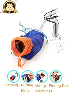 CatYou Cat Grooming Bag Puppy Dog Cleaning Polyester Soft Mesh Scratch & Biting Resisted for Bathing