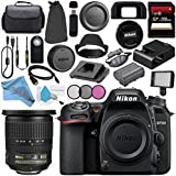 Nikon D7500 DSLR Camera (Body Only) 1581 AF-S DX 10-24mm ED Lens 2181 + 77mm 3 Piece Filter Kit + 256GB SDXC Card + Card Reader + Professional 160 LED Video Light Studio Series Bundle