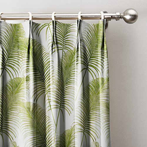 Green Leaves Print Curtain 72″ W x 84″ L, Pinch Pleated Blackout Lining Darpes Panel For Bedroom Living Room Hotel Restaurant (1 Panel) For Sale