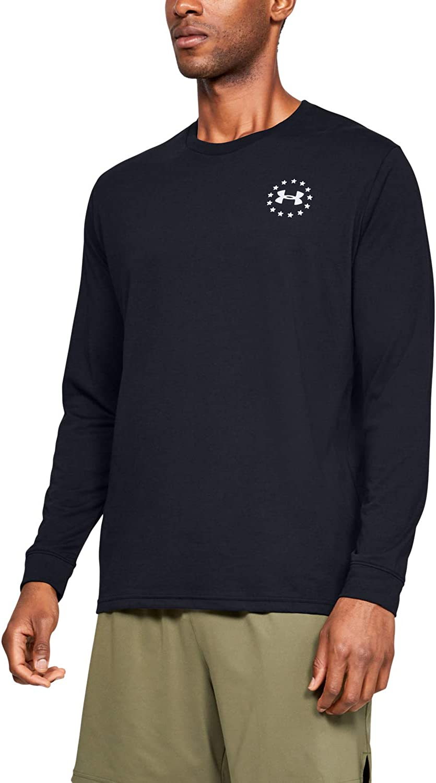 Under Armour Men's Japan Maker New Finally popular brand Freedom Long-Sleeve Flag T-Shirt