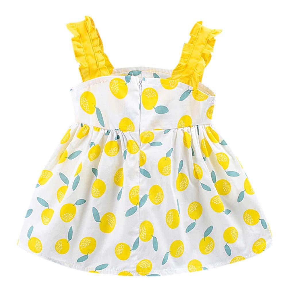 sunnymi   /® 0-24 Monate Kleid Baby M/ädchen Fr/üchte Gedruckt Bow Party Prinzessin Kleid Kleidung