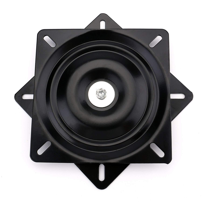 """Fasmov 10"""" (245mm) Heavy Duty Bar Stool Swivel Replacement Seat Swivel Base Bar Stool Swivel Plate, Black"""