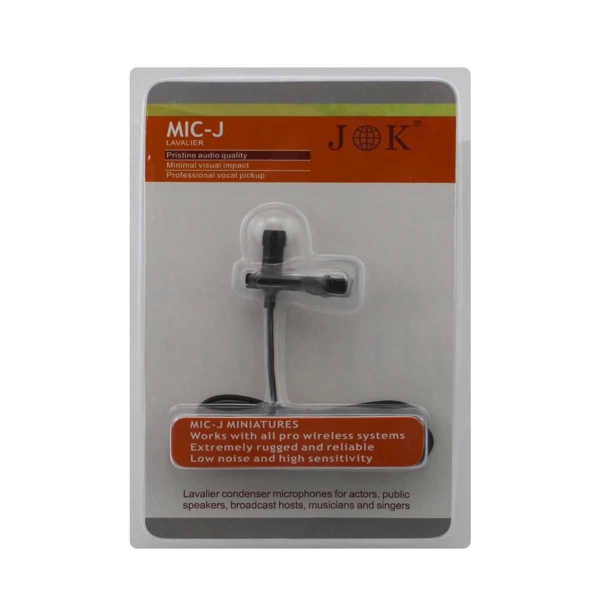 Pro Lavalier Lapel Microphone JK MIC-J 016 Unidirectional Condenser Microphone for Shure Wireless Transmitter JK ELECTRONICS JK-MIC-016-TA4F