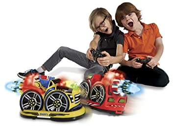 kid galaxy remote control bumper cars rc 2 player game 2 cars and 2