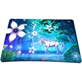 Non-Slip Rubber Base Mousepad for Laptop Computer PC Personality Desings Gaming Mouse Pad Mat 9.45 X 7.87 inch (Unicorn, 9.45