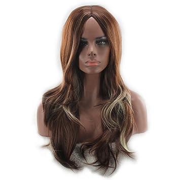 Amazon.com   Fashion Women Long Curly Wavy Dip-dye Synthetic Wig Party  Cosplay Full Wigs   Beauty 358b97c99