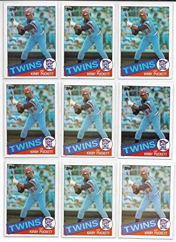 1985 Topps Baseball Kirby Puckett Rookie Card # 536 Lot Of 10 Cards Near Mint ()