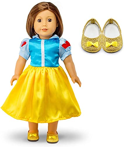 Yellow Princess Gown for American Girl Dolls Clothes 18 Inch Doll Clothes