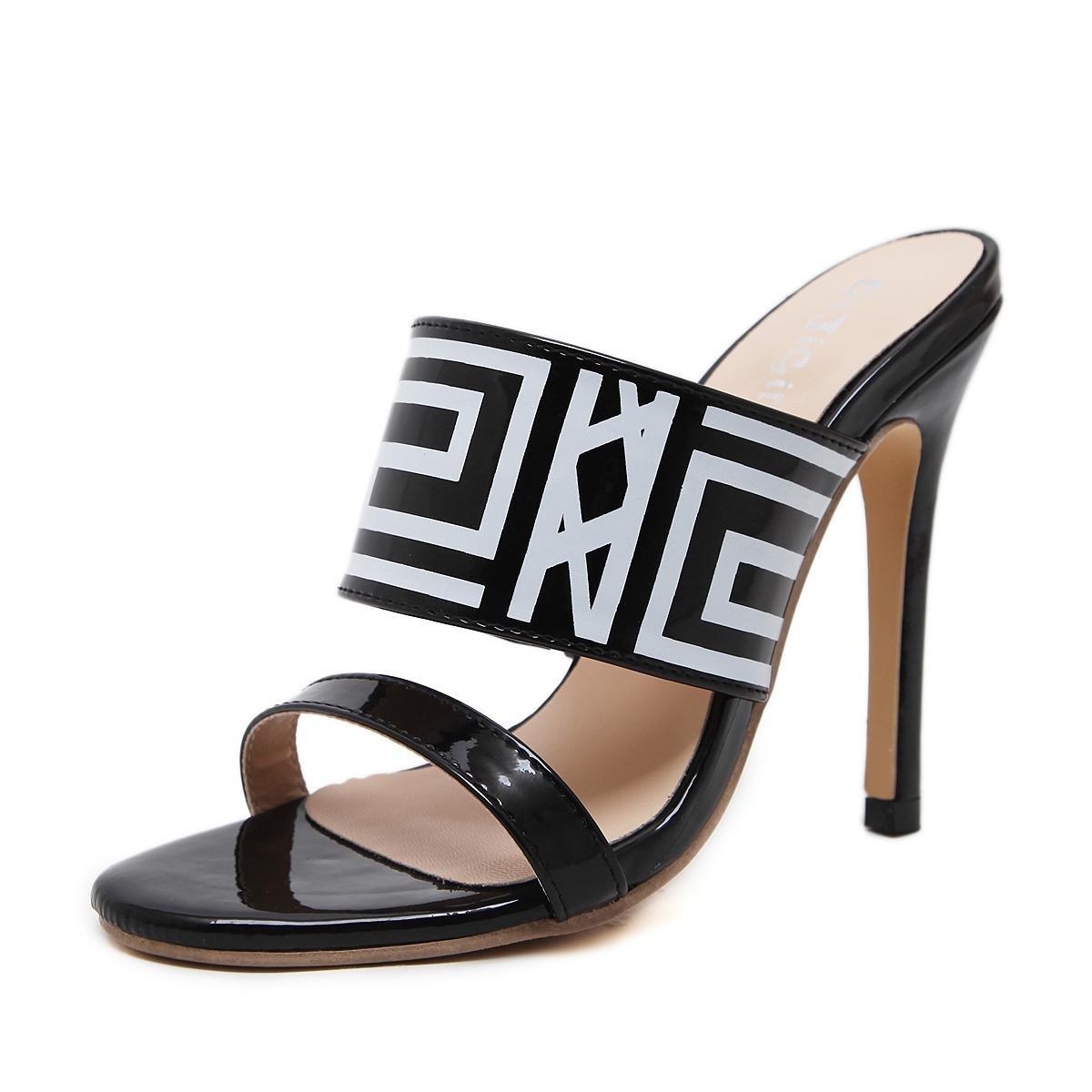 L@YC Femmes Talons à Hauts black arts Et art Confortables Combat Couleurs Fine Chaussons à Talons Hauts Chaussures Confortables black af57ed5 - conorscully.space