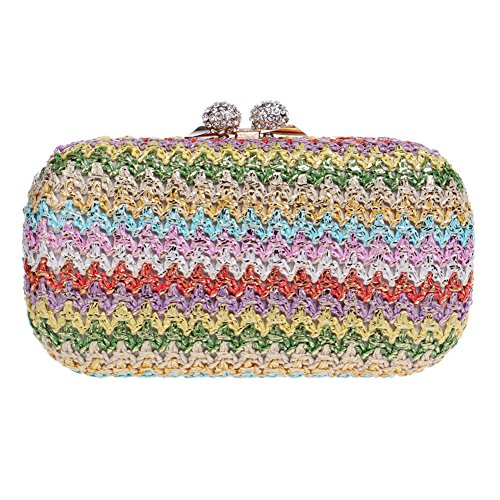 Luxury Color Gorgeous 1 Evening Woven QEQE Beautifully And Clutch Nightclub Evening Bag Women's American Women's Bag European 2 Bag Classic wTWq1XpRx