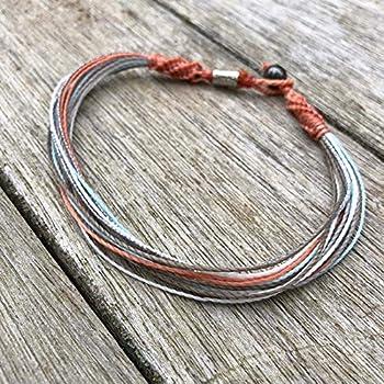 wax cord Sliver Multistrand Wax String bracelet sliver beaded anklet vegan bracelet surfer bracelet beach anklet waterproof bracelet