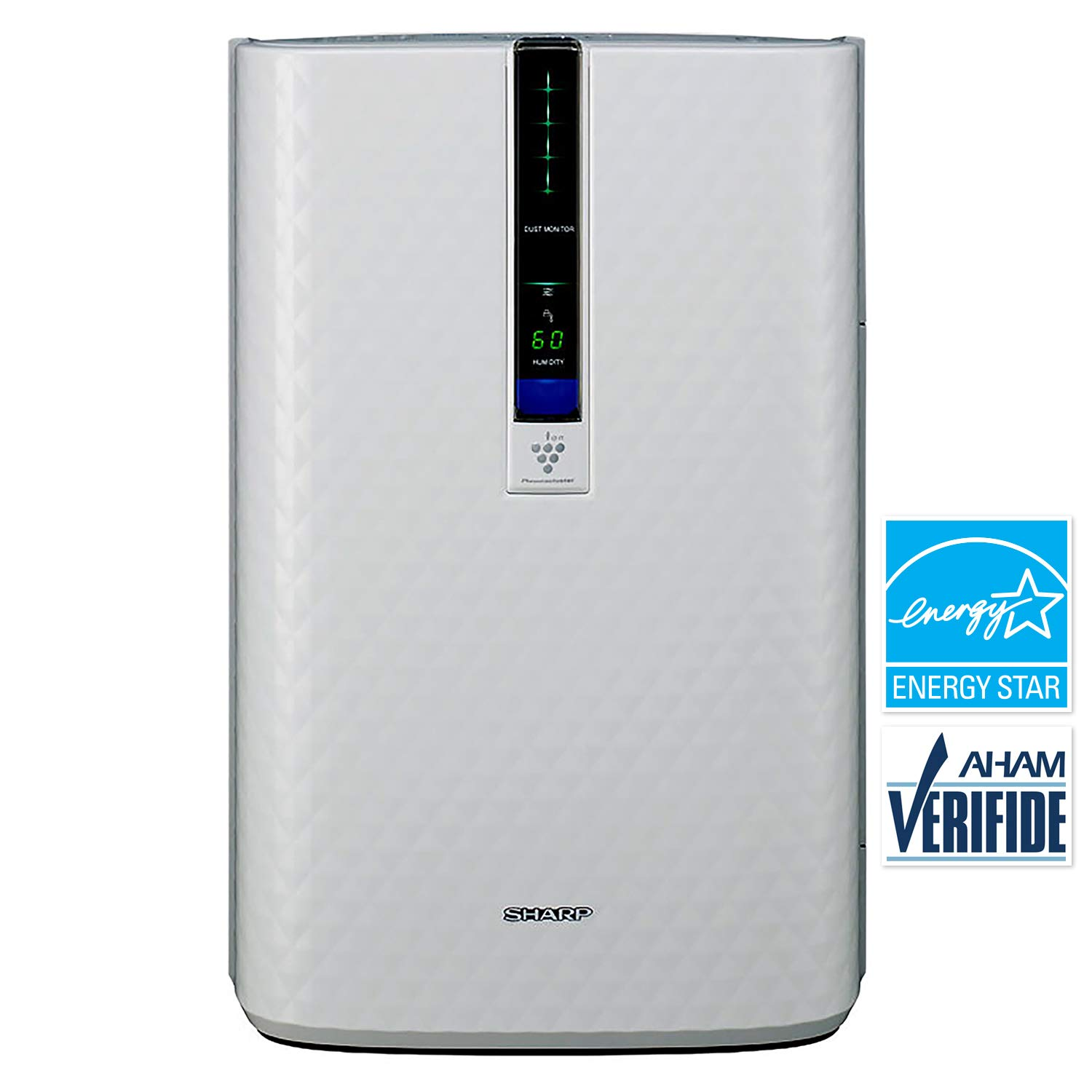 SHARP KC850U PlasmaCluster Air Purifier Humidifier for Home Office Smokers  Allergies and Pet Hair, 254 Square Feet