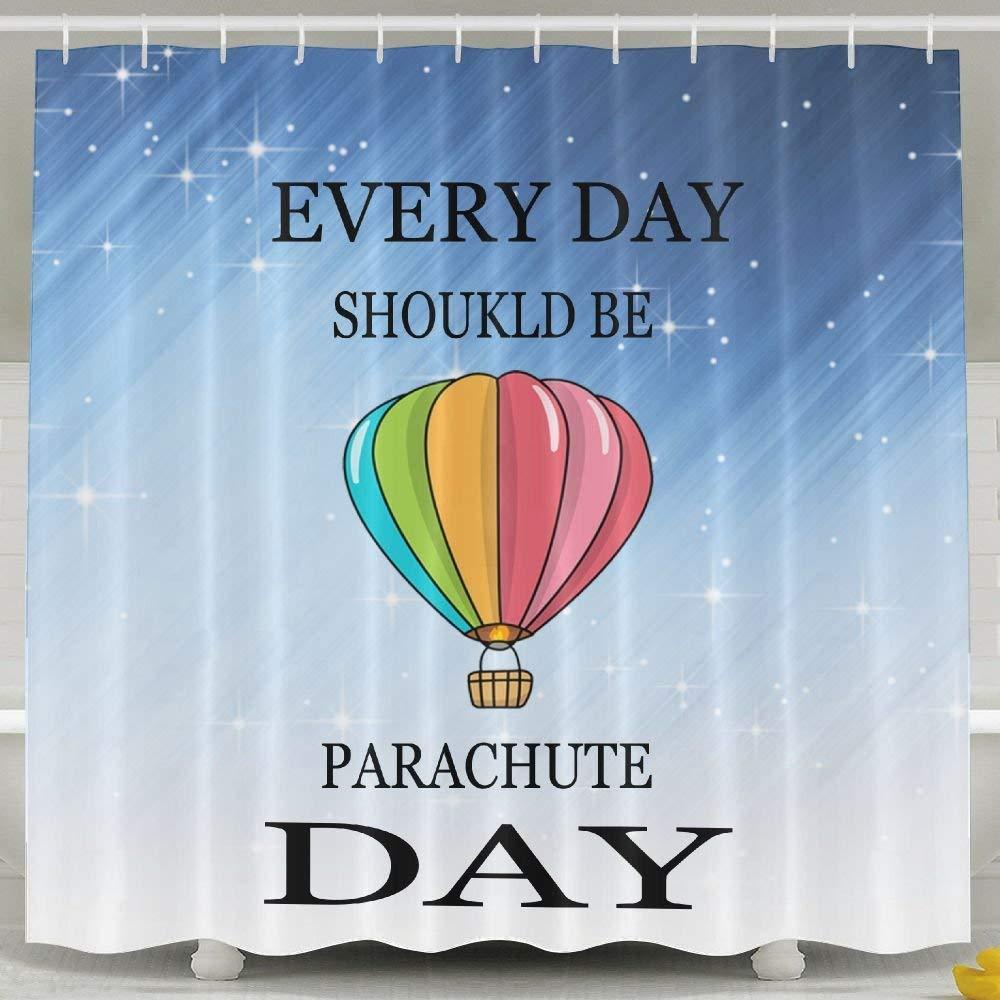 HONGYUDE Everyday Should Be Parachute Day Shower Curtain 60x72inch by HONGYUDE