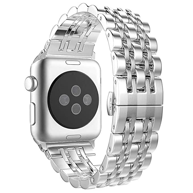 Aottom Compatible para Correa Apple Watch 42mm Acero,Correas Reloj Apple Watch 44mm Series 4 Banda Reemplazo Pulseras de repuesto iWatch 42mm Series 3 ...