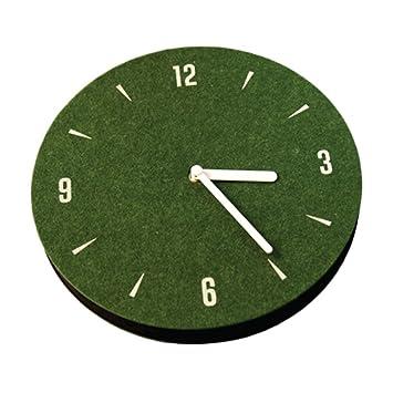 """Felt Silent Wall Clock 9/"""" Home Decorative Non-Ticking Quartz Lightweight 7oz"""