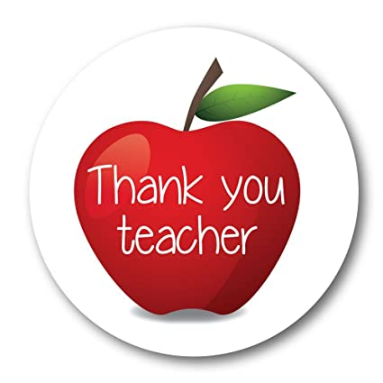 Thank You Teacher - Red Apple - 60 mm - Pegatinas ...