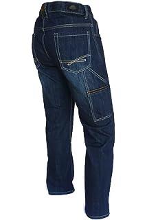 Outlet zu verkaufen schöner Stil glatt PIONIER WORKWEAR Herren Casual Jeans mit Zollstocktasche in ...