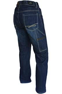 0219a9f07fdea6 PIONIER WORKWEAR Herren Casual Jeans mit Zollstocktasche in blau ...