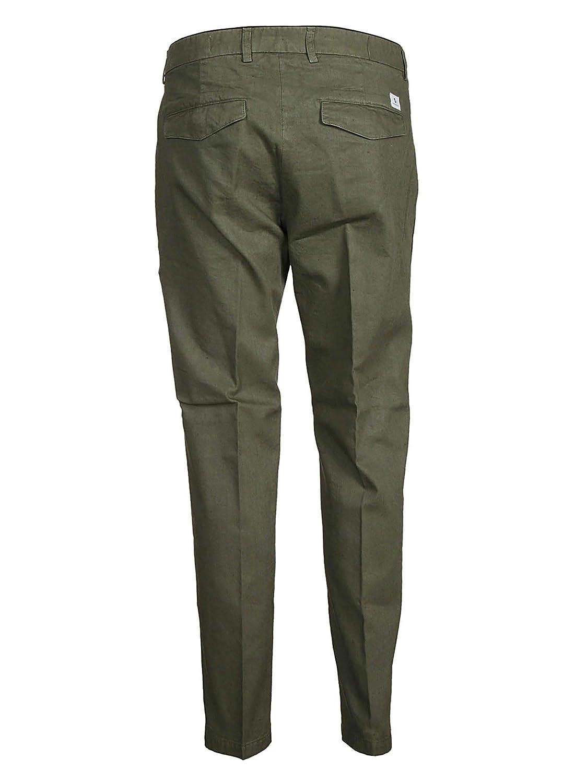 DEPARTMENT FIVE Mens U18P05T1805VE460 Green Linen Pants