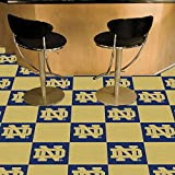 Fanmats Ncaa Notre Dame College Sports Themed Rooms Gyms Decorative Flooring Logo Carpet Tiles 18''x18'' tiles