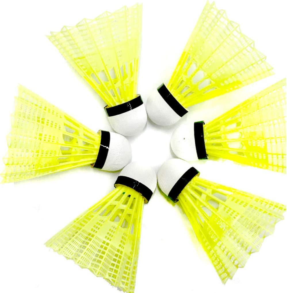 Yellow KimBird 6PCS Plastic Badminton,High Speed Stable Durable Sports Training Badminton Balls for Indoor Outdoor Game,Leisure Decompression Toys