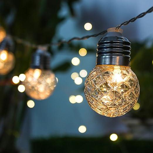 LEDMOMO Cadena de LED Luces Esféricas Solares Decorativas en ...