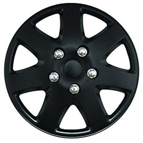 Tapacubos de coche de 35,5cm XtremeAuto®, mate negro, con