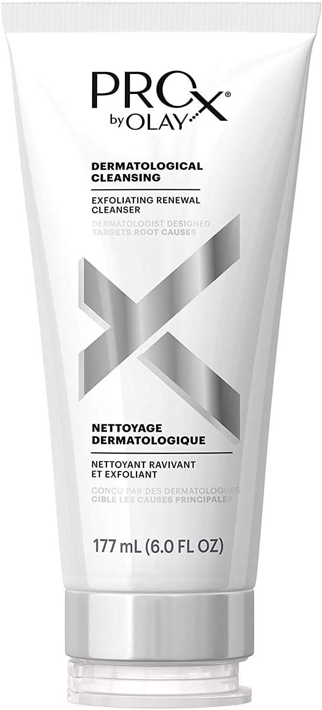 Olay Prox - Limpiador facial exfoliante de renovación, paquete de 6 onzas de líquido puede variar