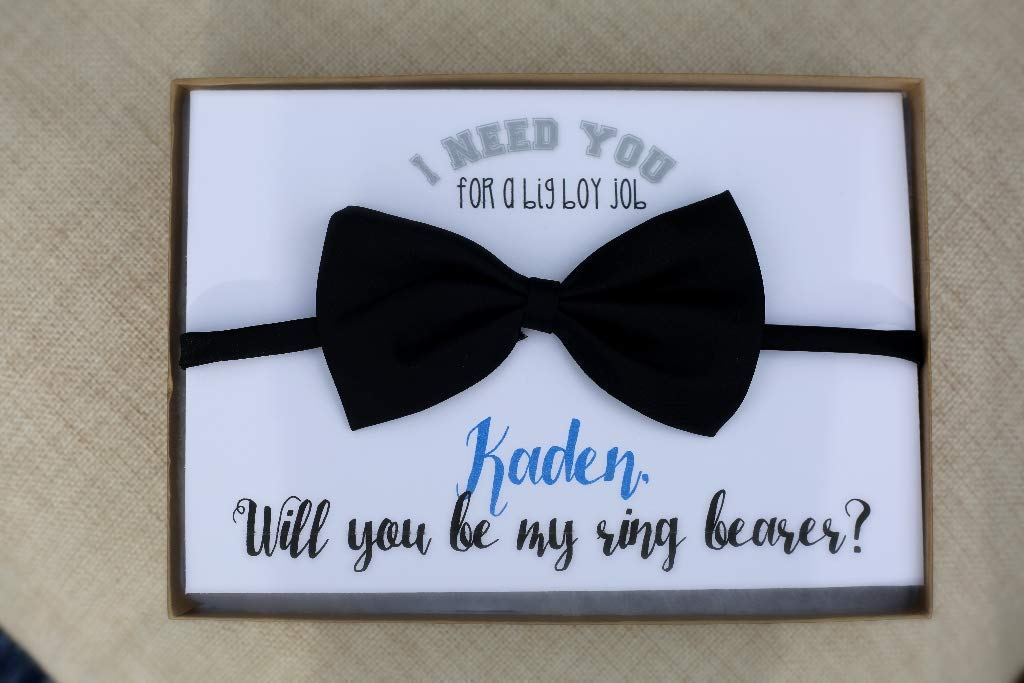 Will you be my ring bearer? toddler, baby bow tie gift, ring security, ring bearer