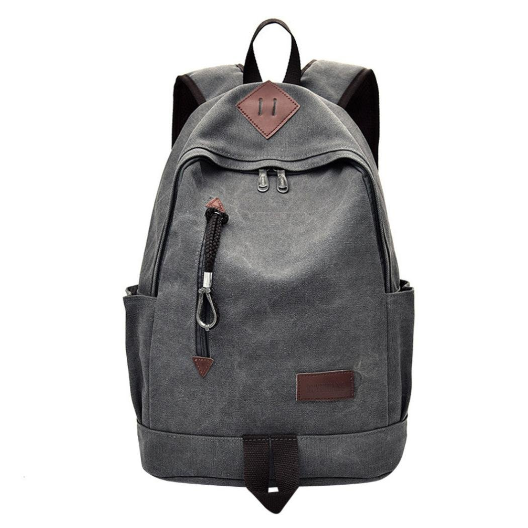 SMALLE ◕‿◕ Clearance,Casual Men Canvas Backpack School Travel Student School Laptop Bag