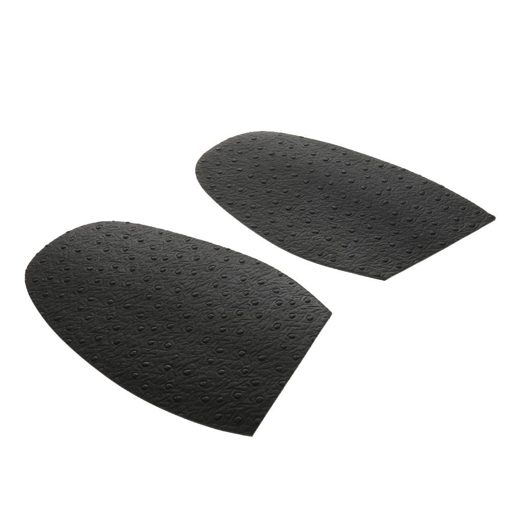 Pair Glue On Rubber Half Soles Anti Slip Shoe Repair Black Thickness 1.8mm Generic STK0155010490