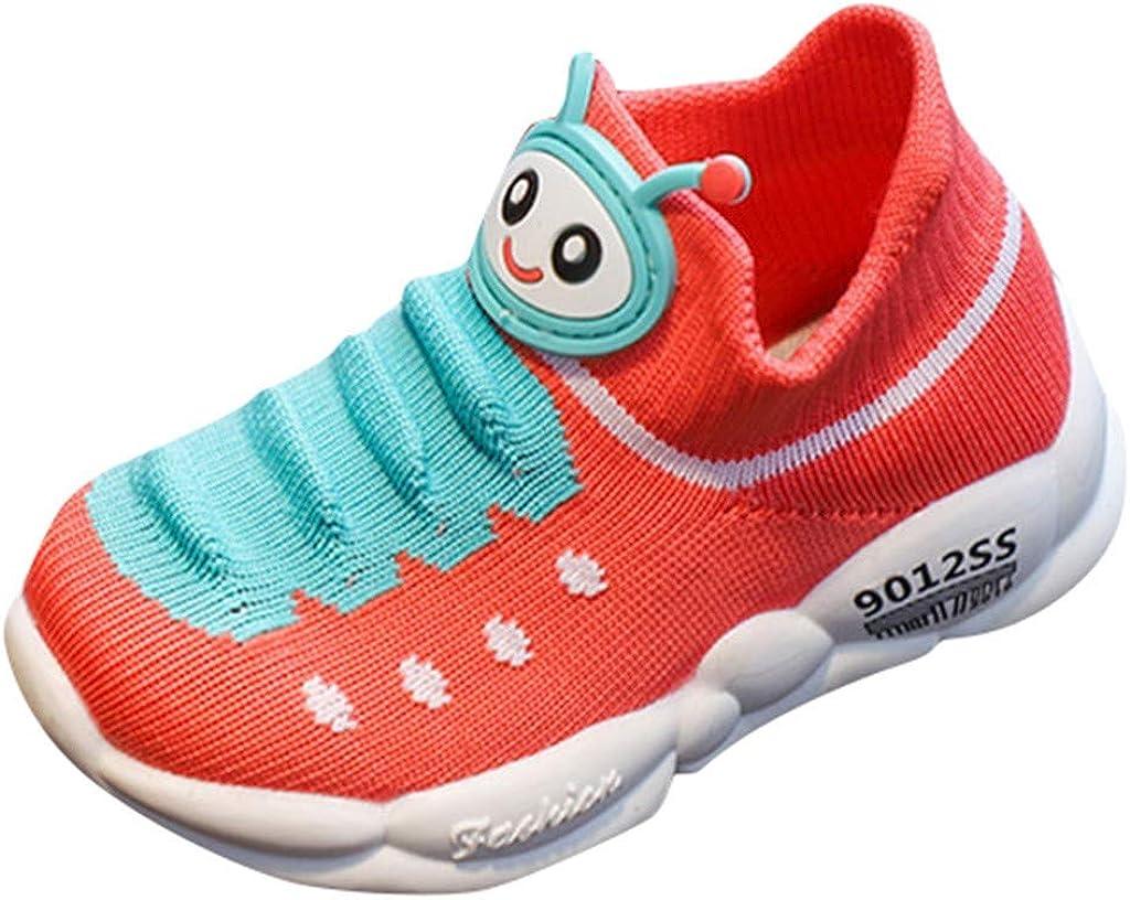 Zapatillas de Deporte para niños y niñas, para Correr en la Sala de niños, diseño de Dibujos Animados, Transpirables, de Punto, Rojo (Rojo sandía), 20 EU: Amazon.es: Zapatos y complementos