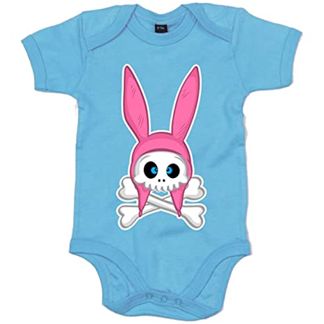 Body bebé Skull Bunny - Celeste, 6-12 meses: Amazon.es: Bebé