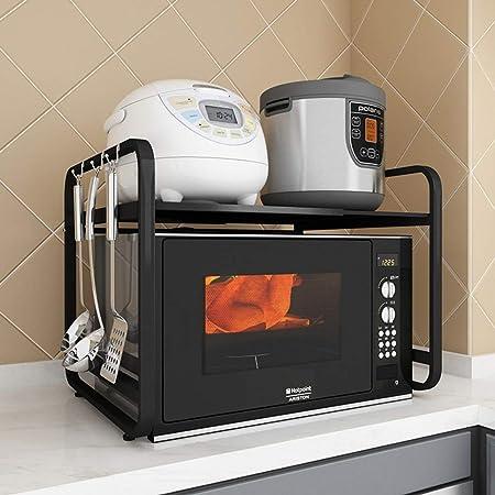 YJWOZ Horno Microondas For Cocina, Estante De Mesa De Acero ...