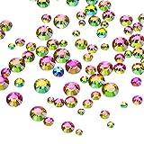 gem 2mm - Outus 1000 Pieces Multi AB Color Flat Back Rhinestones Round Crystal Gems 2 mm - 5 mm, 5 Sizes