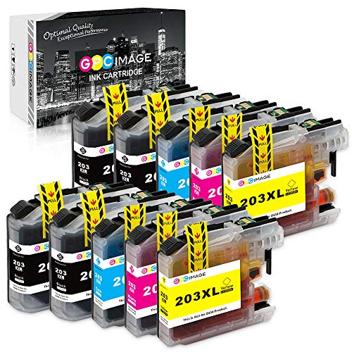 GPC Image Compatible Ink Cartridge Replacement for Brother LC203XL LC203 to use with MFC-J480DW MFC-J680DW MFC-J880DWMFC-J485DW MFC-J4620DW MFCJ5720DW (4 Black, 2 Cyan, 2 Magenta, 2 Yellow, 10-Pack)