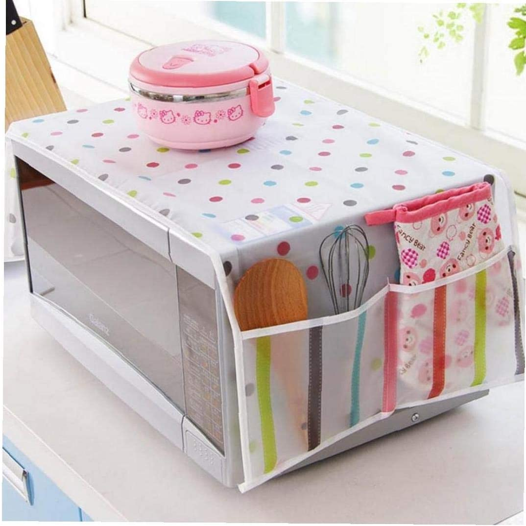 BYFRI Microwave Dust Proof Cover Microwave Oven Accessory Protective Cover Dust-proof Covers Hood Home Decor Microwave Home Decoration