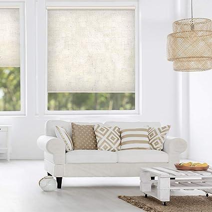 AQJD Linen Blinds & Shades Room Darking for Window Shade Living Room  Kitchen Bathroom 35\