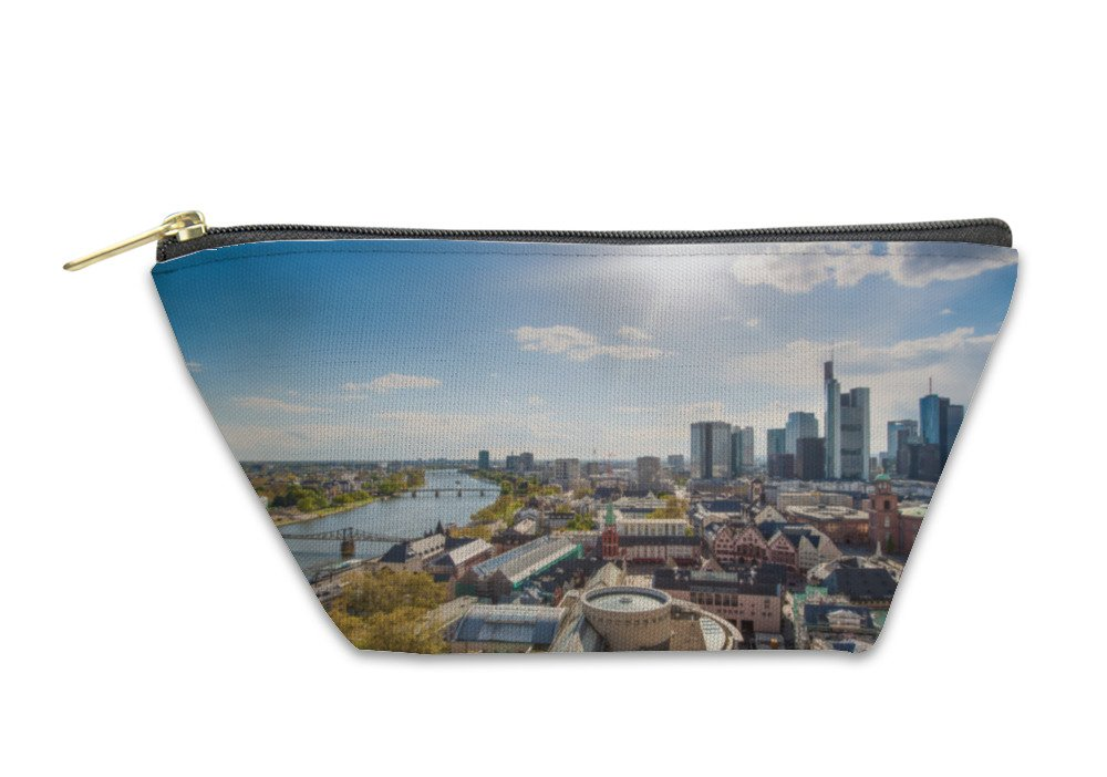 Gear New Accessory Zipper Pouch, View Of Skyline At Center Business District In Frankfurt German, Large, 5983147GN