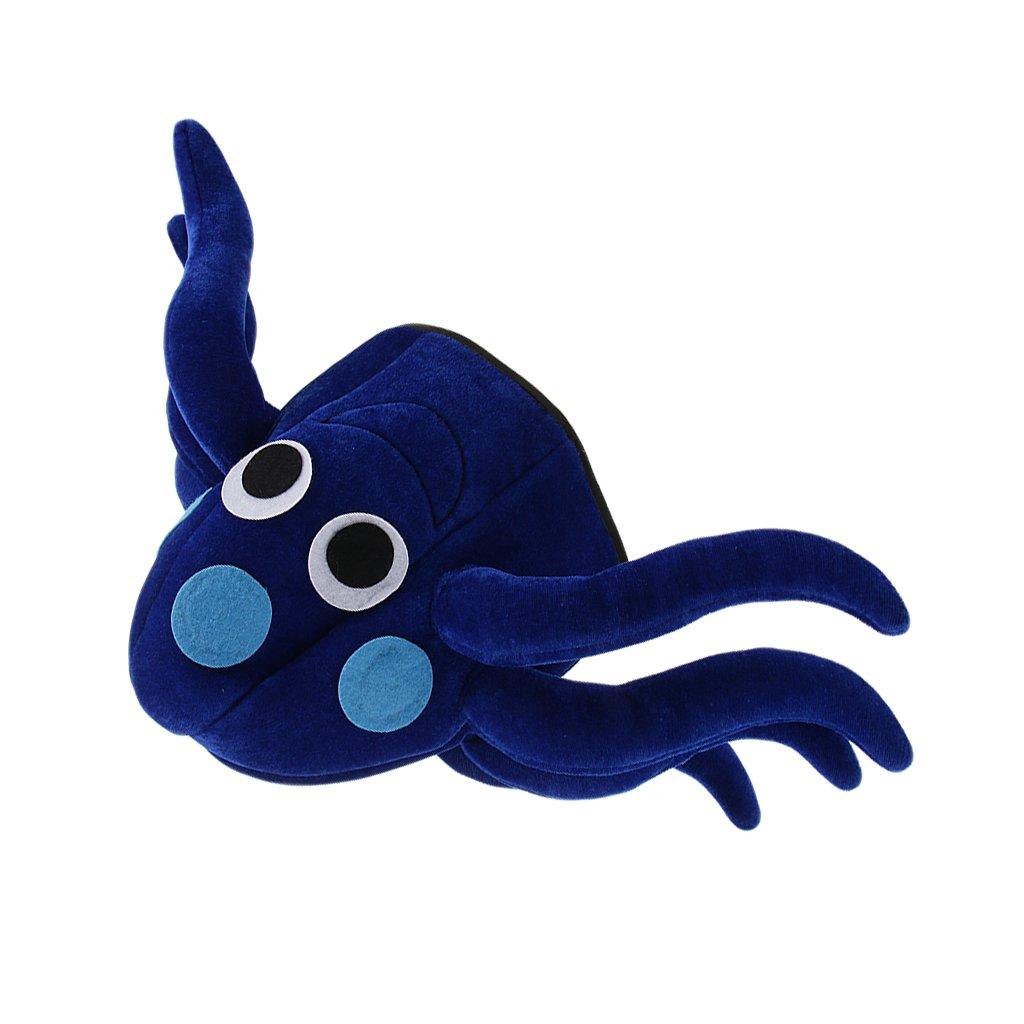 Baoblaze Halloween Cute Blue Octopus Cap Hat Sea Animal Fun Festival Holiday Unisex Adult Fancy Dress Accessories by Baoblaze