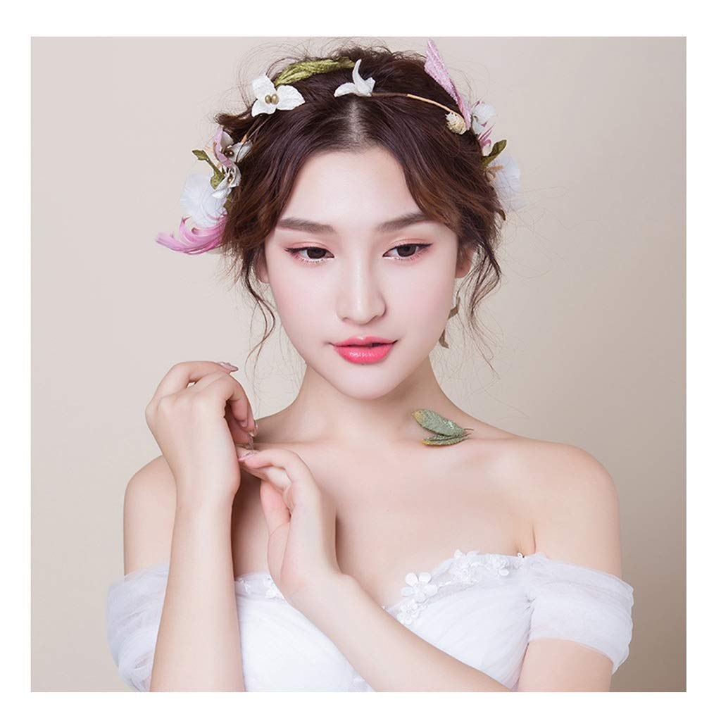 Wreath Flower Headdress Korean Hair Accessories Wedding Beach Holiday Jewelry Wedding Dress Accessories Plate Hair Accessories