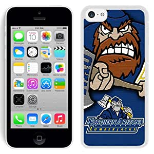 Popular And Durable Designed Case With NCAA Big Sky Conference Football Northern Arizona Lumberjacks 3 Protective Cell Phone Hardshell Cover Case For iPhone 5C Phone Case Black