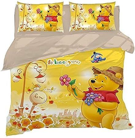 Copripiumino Winnie The Pooh.Xwxbb Biancheria Da Letto Niciyo Winnie The Pooh 3 Pezzi Con
