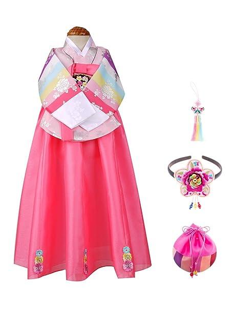 Amazon.com: skyroad (TM) coreano tradicionales Hanbok para ...