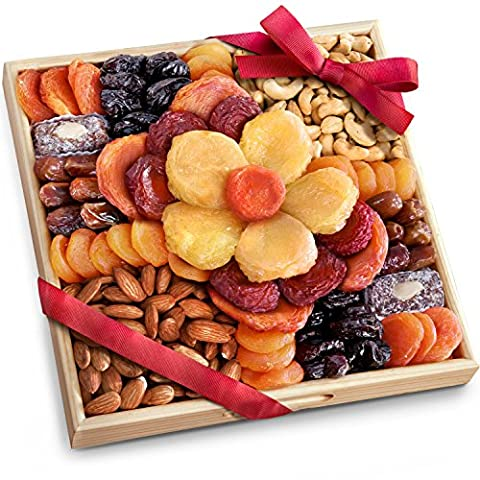 Flora Dried Fruit and Nut Gift Tray - Flowers And Gifts