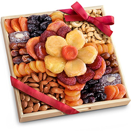 Flora Dried Fruit and Nut Gift Tray by Golden State Fruit
