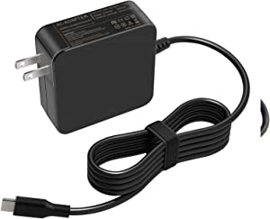 65W 45W USB-C Laptop Charger for Dell Latitude 12 5285 5289 7250 7255 7285;13 7370; 14 5480 7480