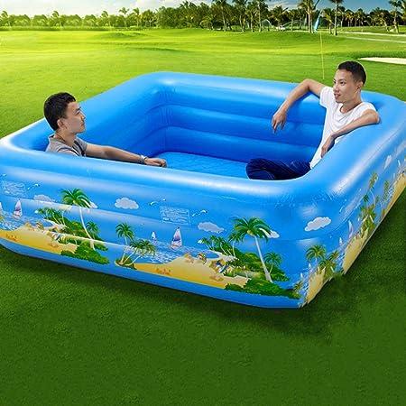 ZHKGANG Piscina Casa Niños Adultos Piscina Grande para Niños Jardín Al Aire Libre Asiento De Soporte Piscina,Blue-200 * 200cm: Amazon.es: Hogar