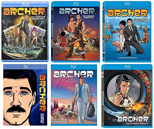 Archer: Complete Seasons 1-6 Blu-ray (Archer Season 4 And 5)